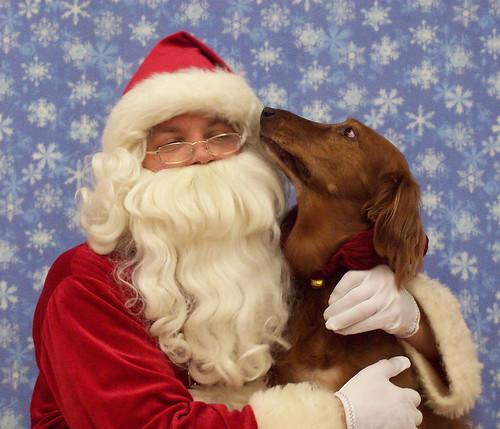 Sue tells Santa her Christmas Wish