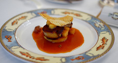 1st Course:Escalope de Foie Gras de Canard Poelee au Verjus