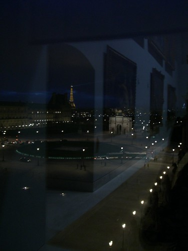 My faourite view of Paris so far, from the 4th floor of the Louvre.