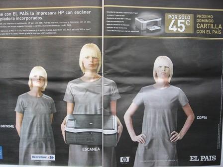Las impresoras son para las secretarias, no para los hombres.