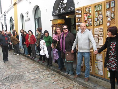 Cadena Humana Apoyo  Palestina  Córdoba.