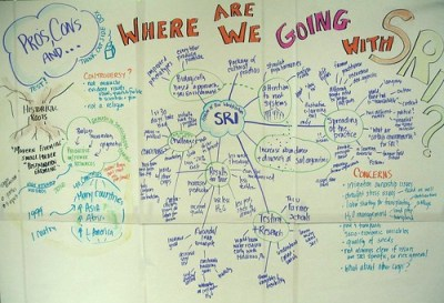 Mind map of SRI session at IFAD