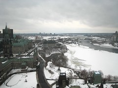 Ottawa and the Ottawa river from the Peace Tower