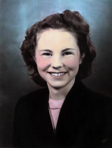 Mom, high school senior photo