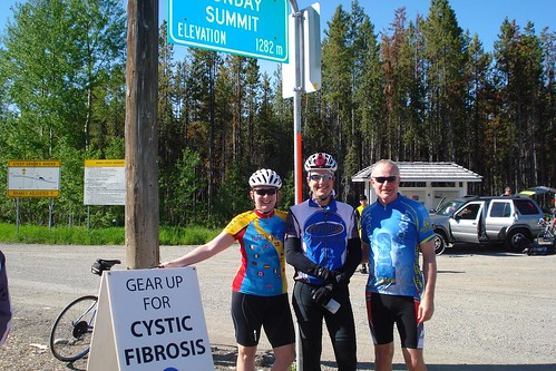 Leona, Me and Max at the top of Sunday summit