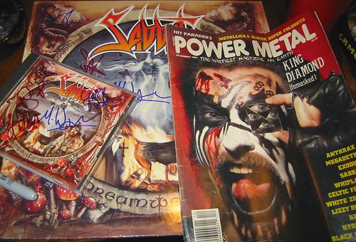 20080419 - Sabbat concert at Jaxx - 154-5495 - Autographed albums & Power Metal magazine