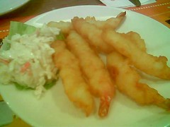 SP Pizza Hut tempura king prawns