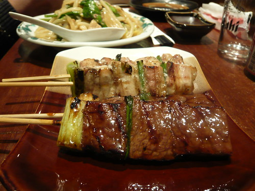 [090101.台中酒吞]烤牛肉與烤雞肉