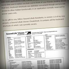 Second Life Viewer Cheatsheet