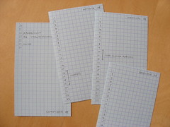monthly index cards