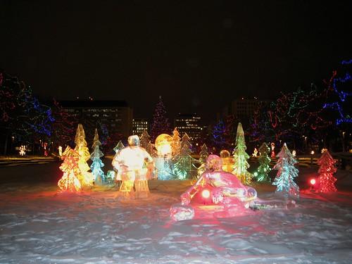 Holiday Lights at the Alberta Legislature