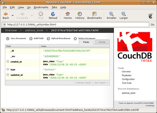 Here is my document in CouchDB