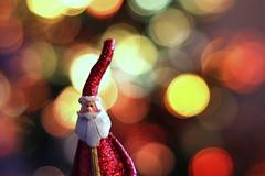 Santa in bokeh