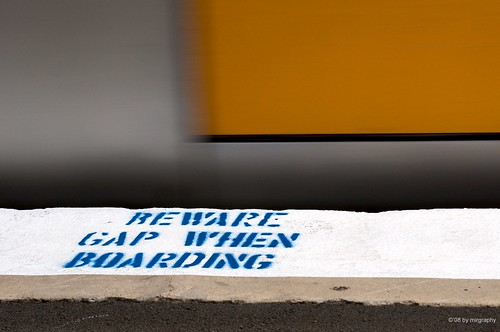 Beware gap when boarding aka mind the gap