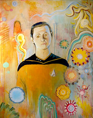 """""""Lt. Commander Data Materializing in an A..."""