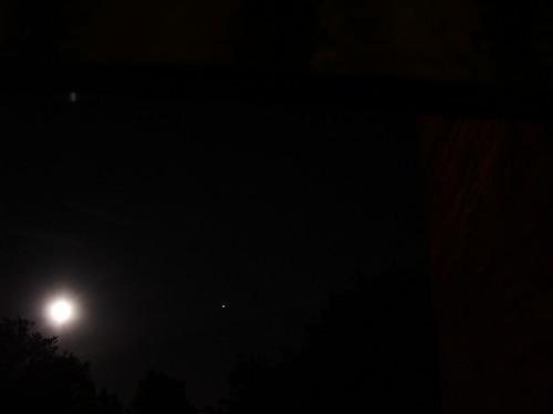 Full moon and Jupiter
