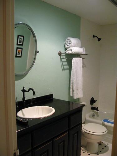 Installed Towel Rack in Bathroom