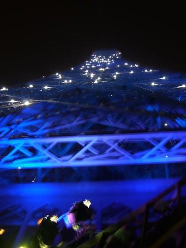 Eiffel Tower glittering