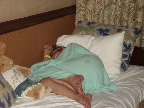 Asleep after the Pirates and Princess party