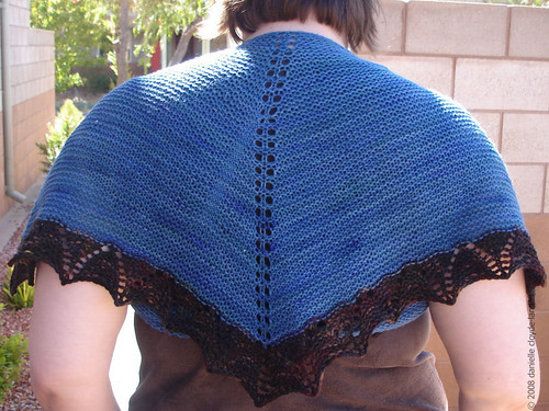 * This is a really cute shawl & would be a nice for some TV knitting or for a beginning knitter, I think.
