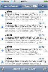 Så var då Jaiku tillbaka.