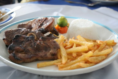 Grilled Lamb Chops at Greek Taverna