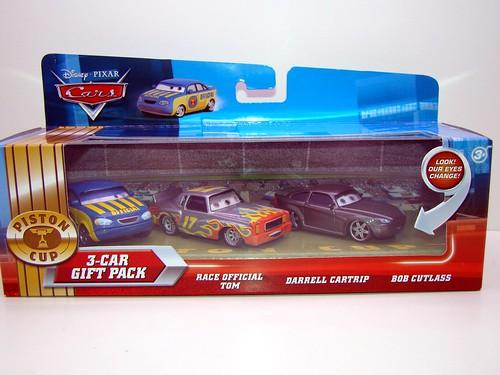 disney cars lenticular 3 pack bob cutlass darrel cartrip race official tom (1)