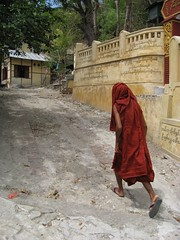 u jabana (mr. quick in burmese) leading us through monastery/nunnery lanes in sagaing