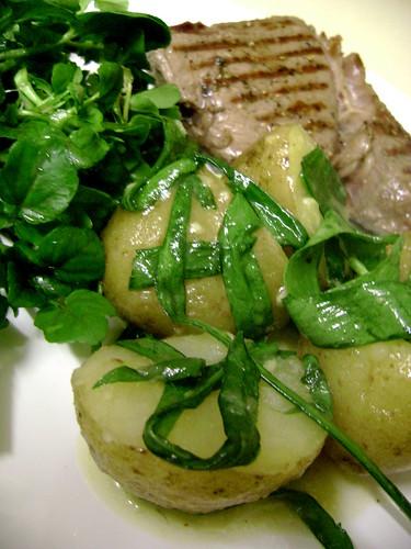 Wild Garlic and Wild Watercress with Steak