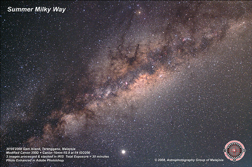 Summer Milky Way. Click to enlarge