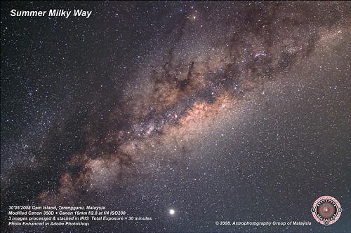 Summer Milky Way. Click to enlarge
