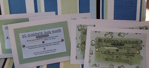 St Paddy's Day Bash Invites