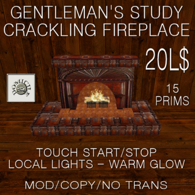 Domicile Gentleman's Study Fireplace (Ad)
