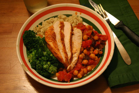 Moroccan-style Chicken with Chickpeas