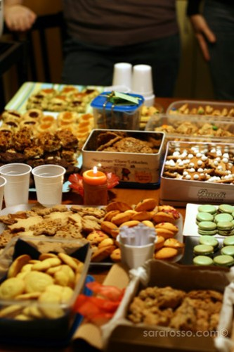 The piled-up Cookies for Holiday Cookie Swap