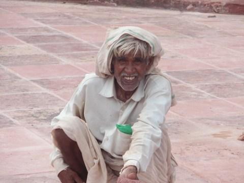 Trabajador en Fatehpur Sikri