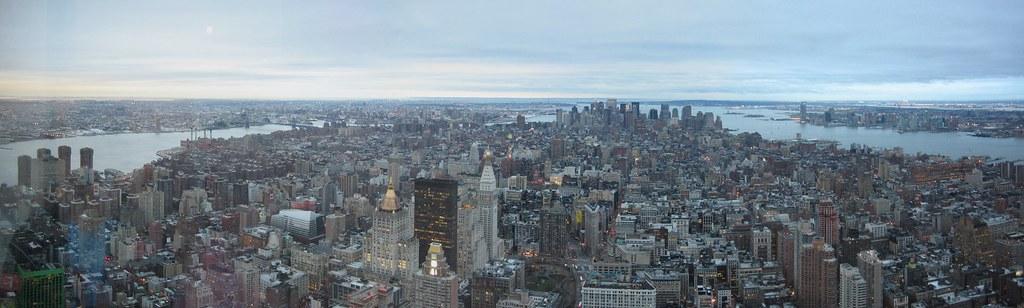 Manhattan panorama from Empire State