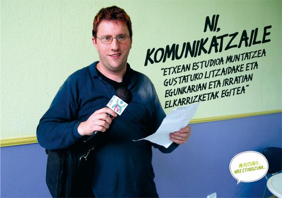 Jon Porru, komunikatzailea.