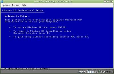 windows xp installer welcome screen