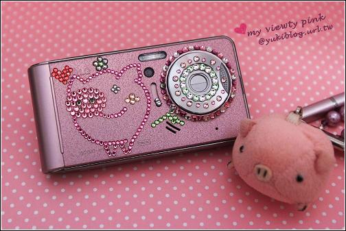 [手作]*bling bling手機貼鑽自己來。QQ豬系列 (Viewty pink & N82)   Yukis Life by yukiblog.tw