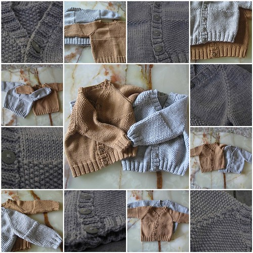 Moss Block Baby Cardigan Details