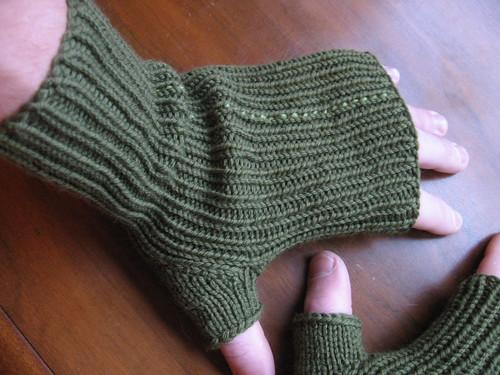 Plein Air fingerless mitts