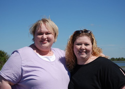 Shannon and Lisa on Assateague Island