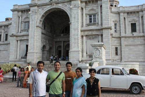 In Front of Victoria Memorial