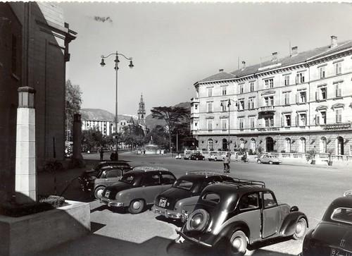 bolzano - piazza stazione - 1963