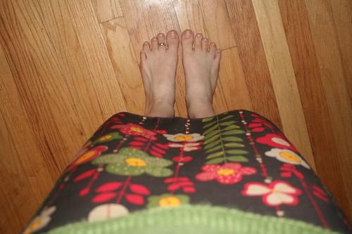 Clinging Garden Feet Shot
