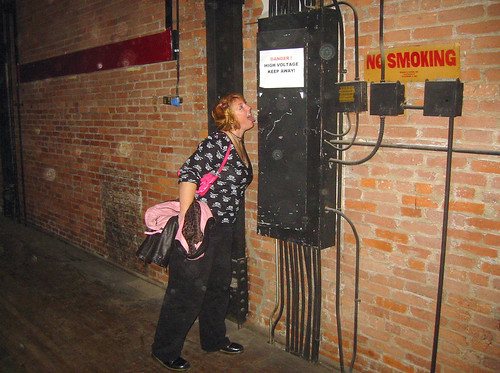 20081115 - SubGenius Devival in Baltimore - 171-7143 - Tabbitha licking high voltage - please click through to leave a comment on FlickR