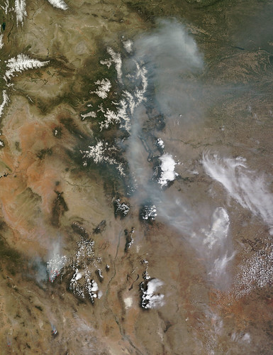 Smoke from the Wallow North fire, Arizona