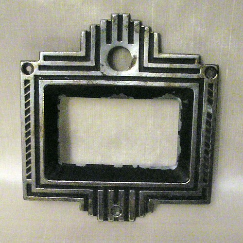 Art Deco Style Antique Radio Escutcheon