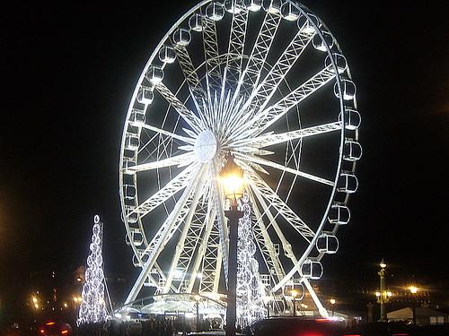 La rue - Parigi Place de la Concorde - Natale 2008